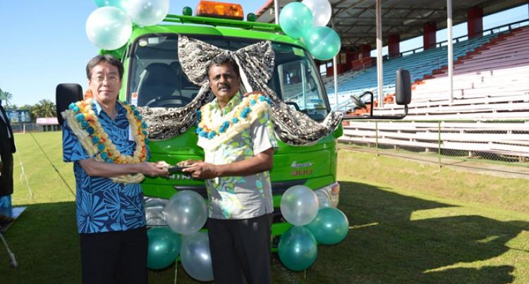 Japan Donates New Garbage Truck For Nausori