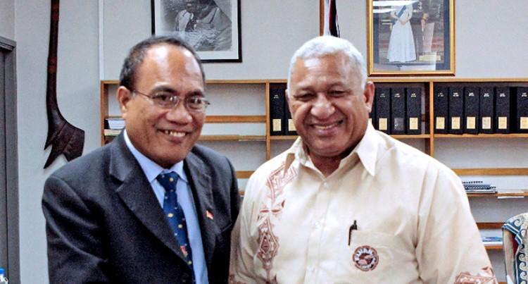 Prime Minister Receives New Kiribati President