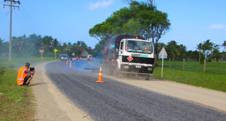 Road Construction Section On Queen Road Stabilised