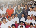 Speaker Luveni  Visits Former School; Tells of Work Life