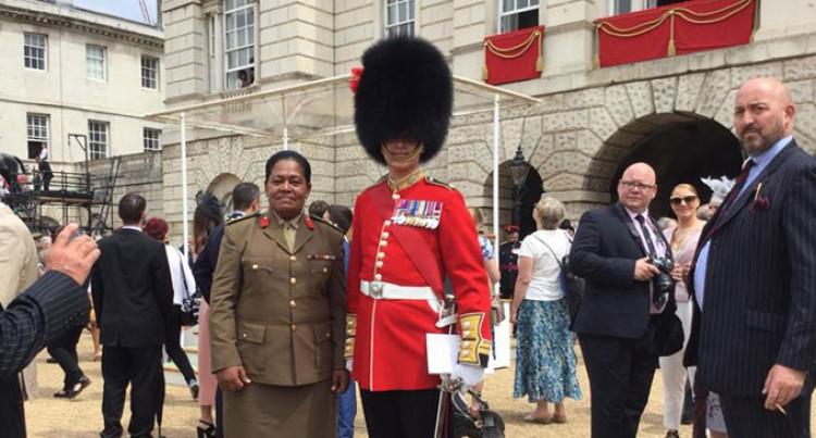 Col Seruiratu Watches Queen's Birthday Event
