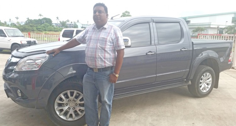 Chandra Proud Owner of Foton Tunland