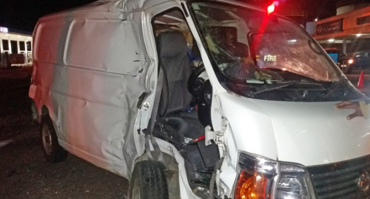 Crash At Walu Bay; Van Driver Unconscious