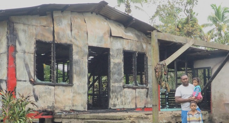 House In Flames, Dad Happy Family Safe