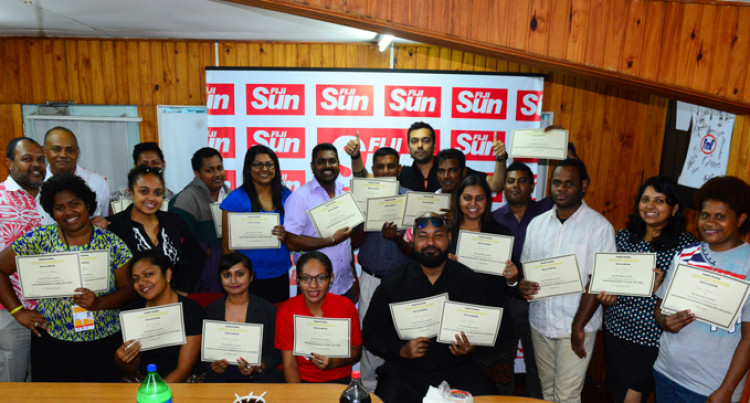 Fiji Sun Staff Awarded After Top Training