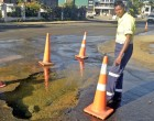 Sink Hole Trapped Taxi; Flooding, Water Disruptions