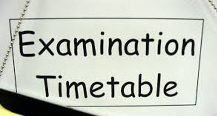 External Exam Dates, And Times Are Out
