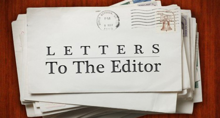 Letters To The Editor, 12th September, 2016