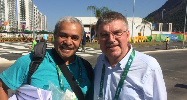 IOC Boss Mingles With Athletes, Officials At Games Village