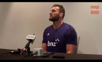Press Conference With All Blacks and Crusader's Captain, Kieran Read