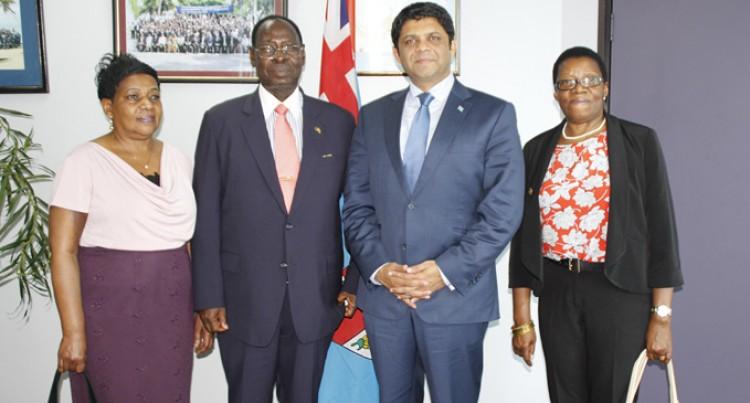 A-G Meets Uganda Envoy to Fiji