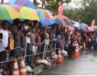 Crowds Turn Up Despite Downpour
