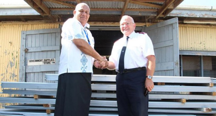 Salvation Army Donates Roofing Iron