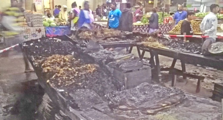 Kava Stall Mysteriously Burns at Market