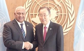 Ban Ki-moon Praises Fijian Global Peace Operations