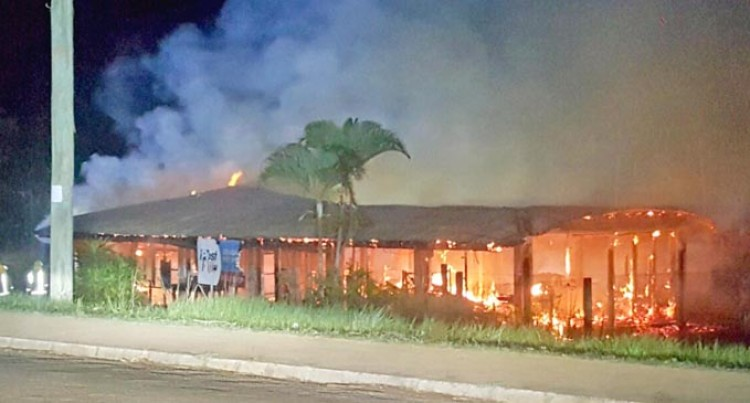 Seaqaqa Post Office  Up In Flames