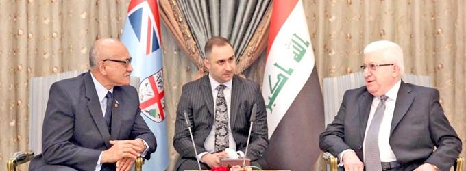 Iraqi Leader Praises Fijian UN Peackeepers