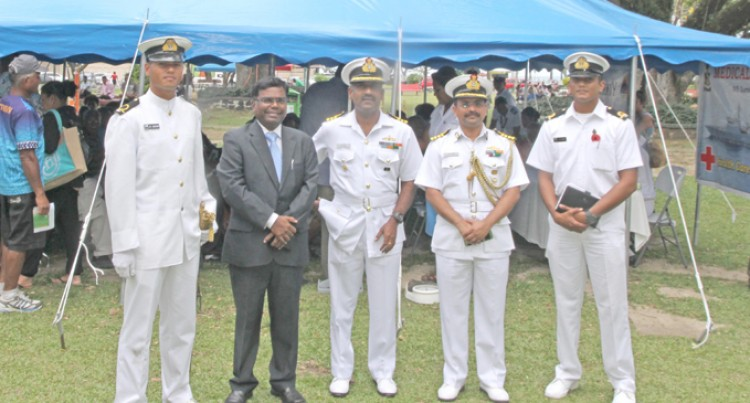 Fijian Turnout Wows Indian Navy Crew