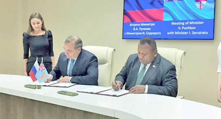 Fiji, Russia To Co-operate In National Disaster Management, Emergencies