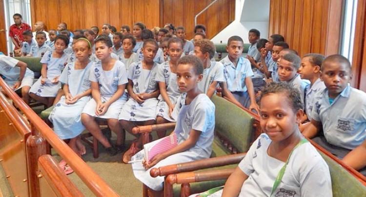 Sabeto District School Visits Parliament