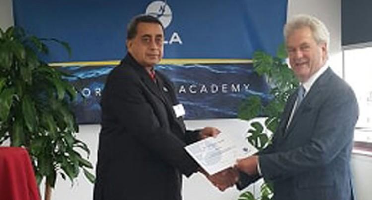 Award Surprises Captain Hill