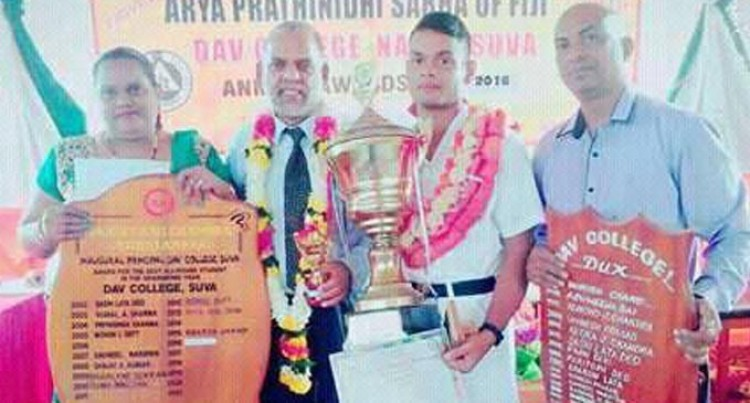 Chand Stands Proud With Dux Son, Avishek