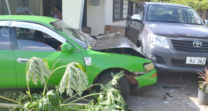 Car Crashes Into Property