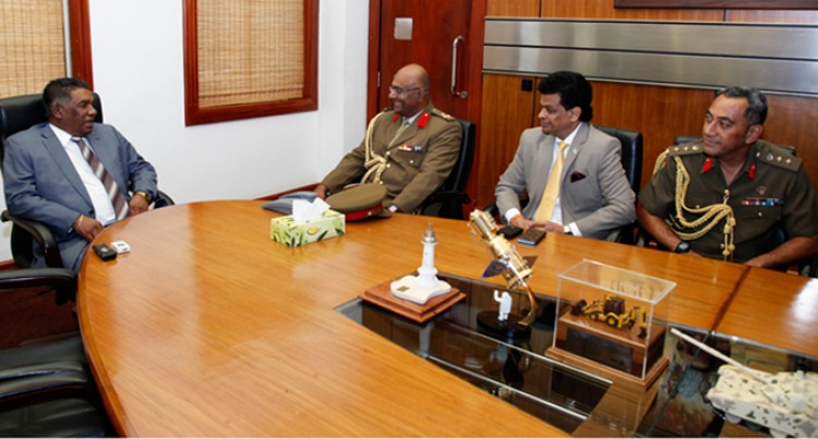 RFMF Top Brass Meet Sri Lankan Official