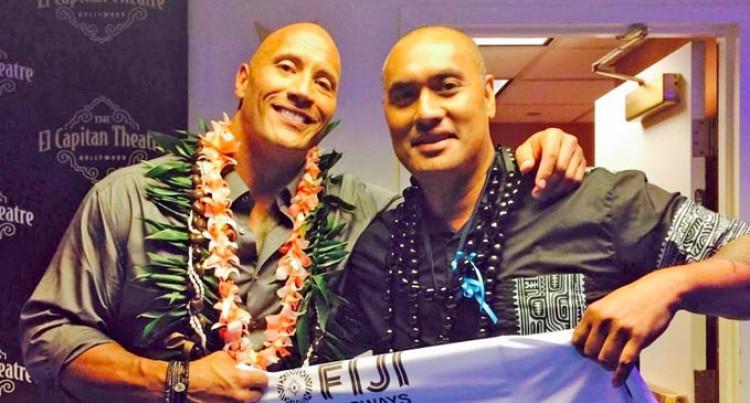 'The Rock' Gets Fijian 7s Jersey
