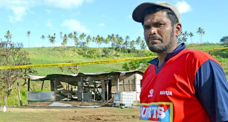 Cane Farmer Sees His Home Burn