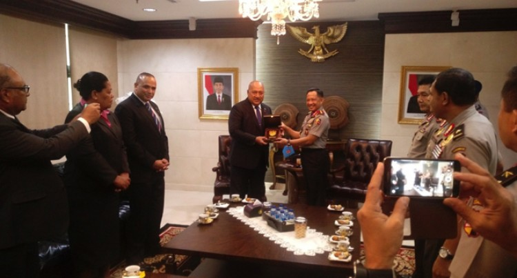 Ratu Inoke Visits Indonesia's New Police Chief