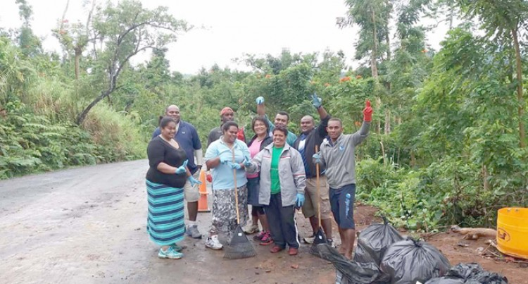 Tropical Root Juice Group  Cleanup at Healing Water Site