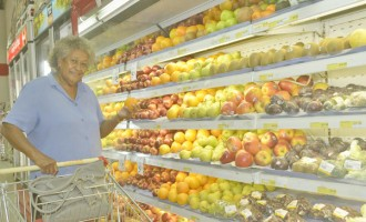 Grandma Shops For Healthy Food