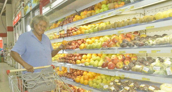 Grandma Shops For Healthy Food