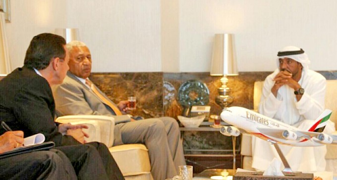PM Meets Emirates Boss In Courtesy Visit