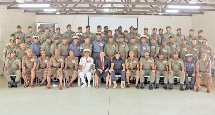 PM Bainimarama Officiates At  Warrant Officers Course Graduation