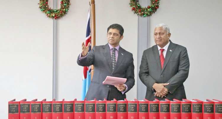 A-G Presents PM Revised Edition Of Laws Of Fiji