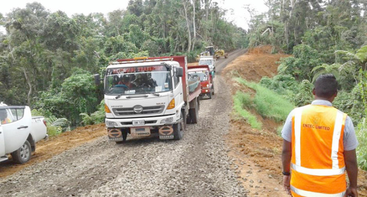 Work In Progress At Bau Tikina Road To Ease Traffic