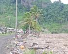 Debris On Ovalau  Eastern Coastline