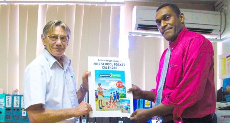 Fulton Hogan Hiways Presents 150,000  Pocket Calendars To The Ministry Of Education