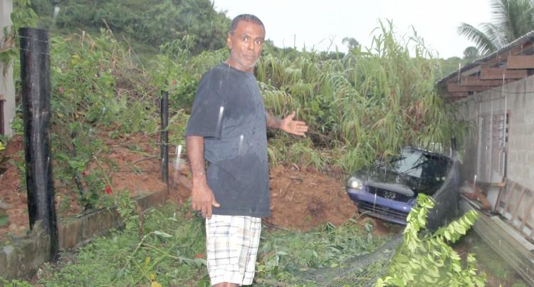 Man Woken Up By Sound Of Landslide, Flees To Safety