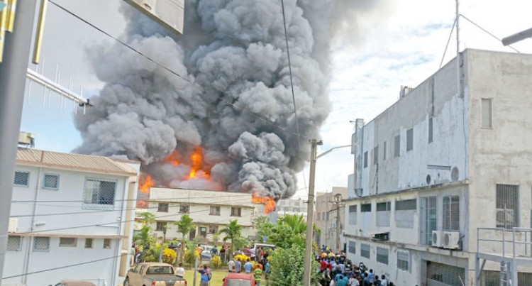 6 Fire Trucks Douse Nadi Factory Fire