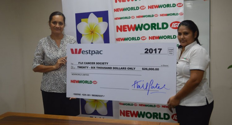 NewWorld Hands $26,000 Cheque To Fiji Cancer Society For Vital Support