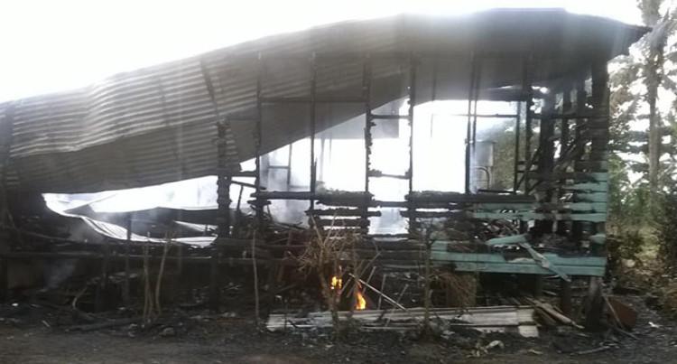 Fire Destroys Farm House