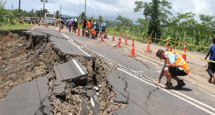 Travellers not too pleased with Kasavu Rd slip