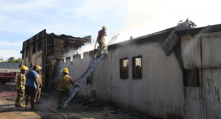 Firefighters Control Blaze From Spreading