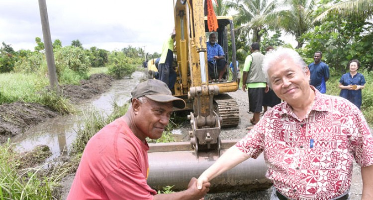 Company Helps Clear Drainage In Lokia
