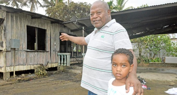 House Razed, Family Thankful For Being Spared