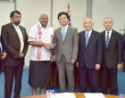 Japanese Official Makes Courtesy Call