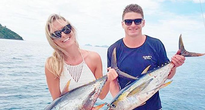 Barrett Lands Yellow Fin On Holiday Here